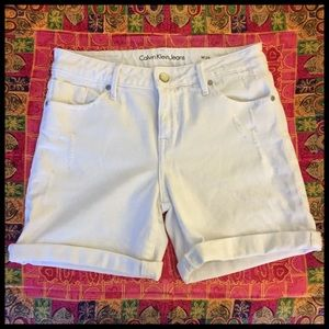 Distressed White Denim Shorts | Comfy Jean Shorts
